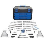 Kobalt 227pc. Standard (SAE) and Metric Polished Chrome Mechanic's Tool Set